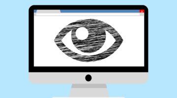 Monitor welcher ein Auge zeigt