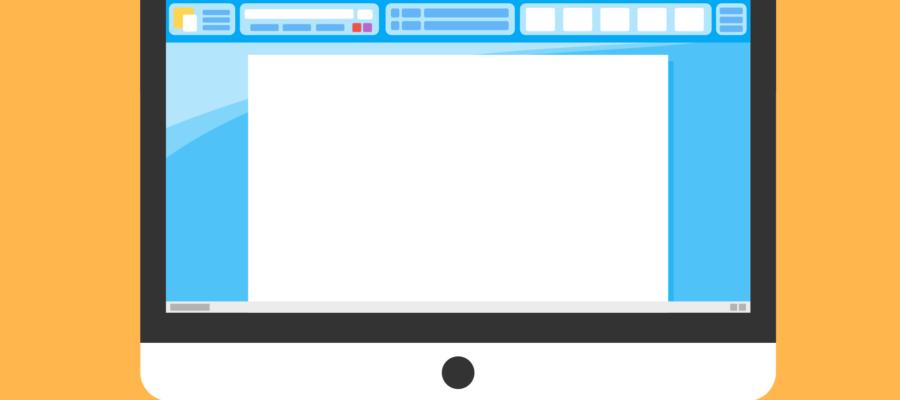 Computerbildschirm mit einem Texteditor