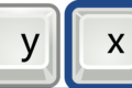 Tasten x und y