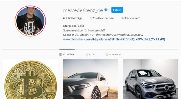 Instagram von Mercedes Benz 05.05.2020